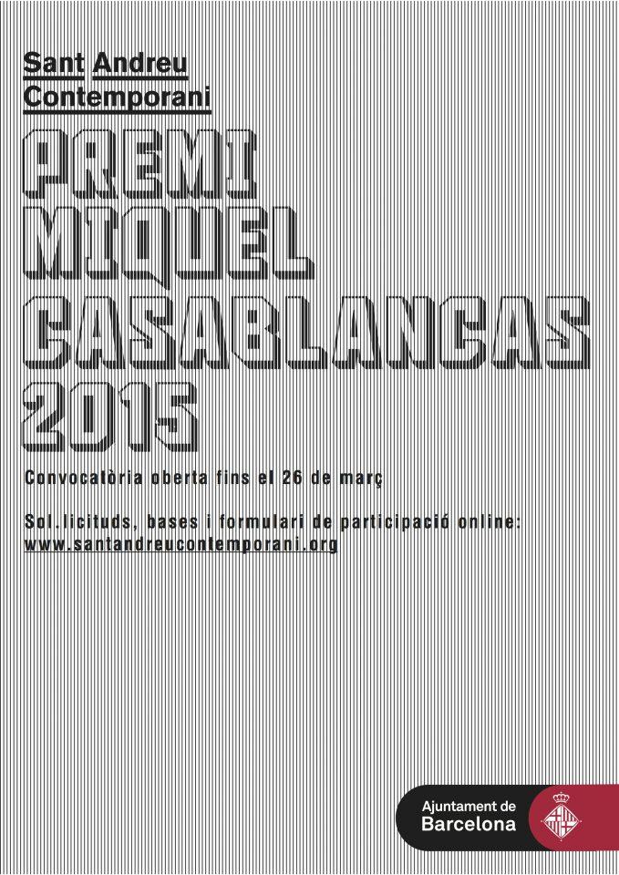 Convocatòria del Concurs d'Arts Visuals Premi Miquel Casablancas 2015