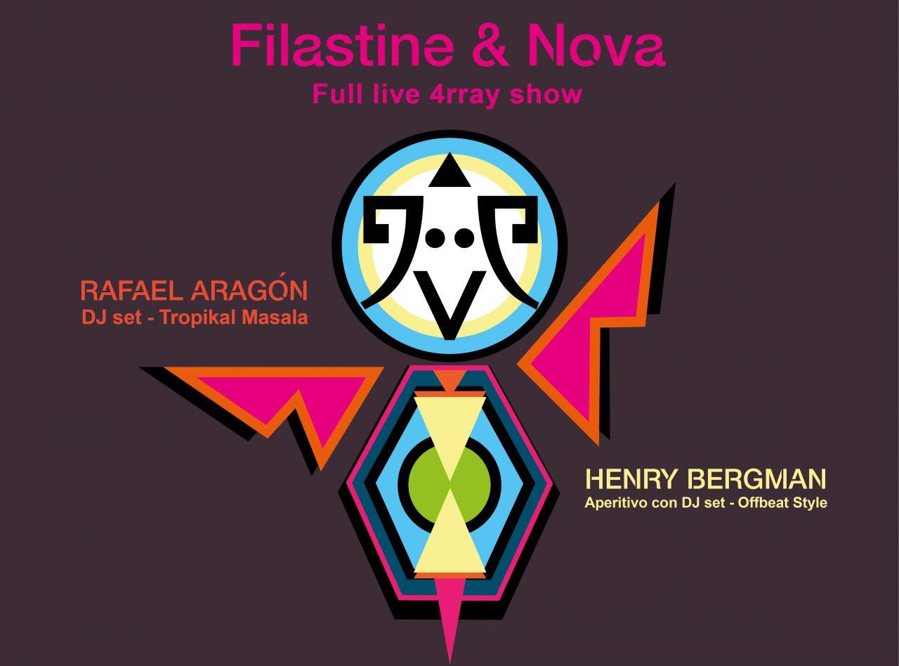 OFFBEAT presenta FILASTINE & NOVA + RAFAEL ARAGÓN
