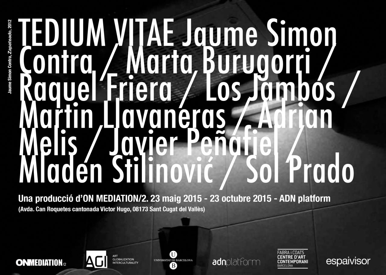 «Tedium Vitae». Presentació del projecte d'exposició a càrrec d'On Mediation