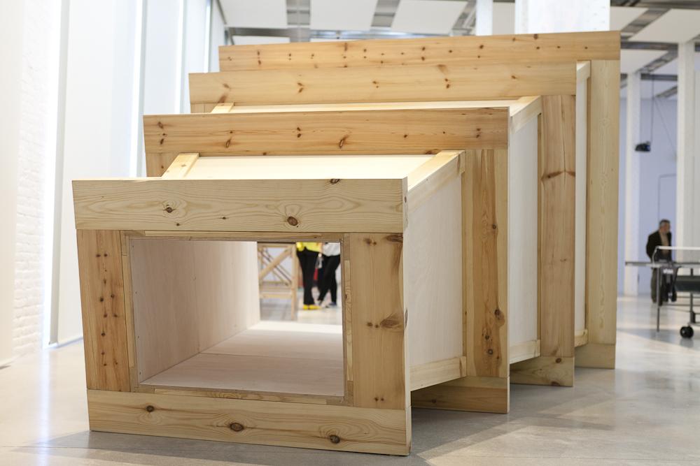 Presentació de treballs d'Eva Fàbregas i Xavier Arenós a Casa Bloc