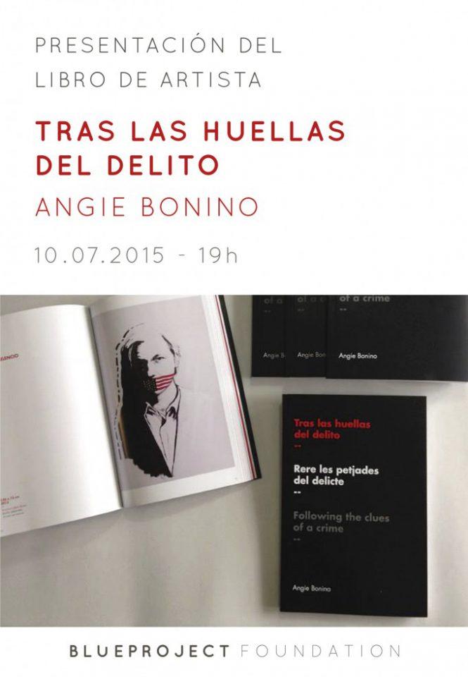 """(CAST) Presentación del libro de artista """"Tras las huellas del delito"""" de Angie Bonino"""