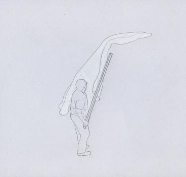 Remover con una vara de madera / Matteo Guidi