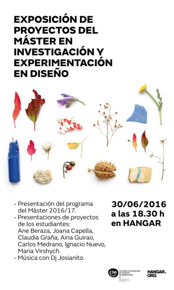 Evento de clausura del MÁSTER EN INVESTIGACIÓN Y EXPERIMENTACIÓN EN DISEÑO 2015-16