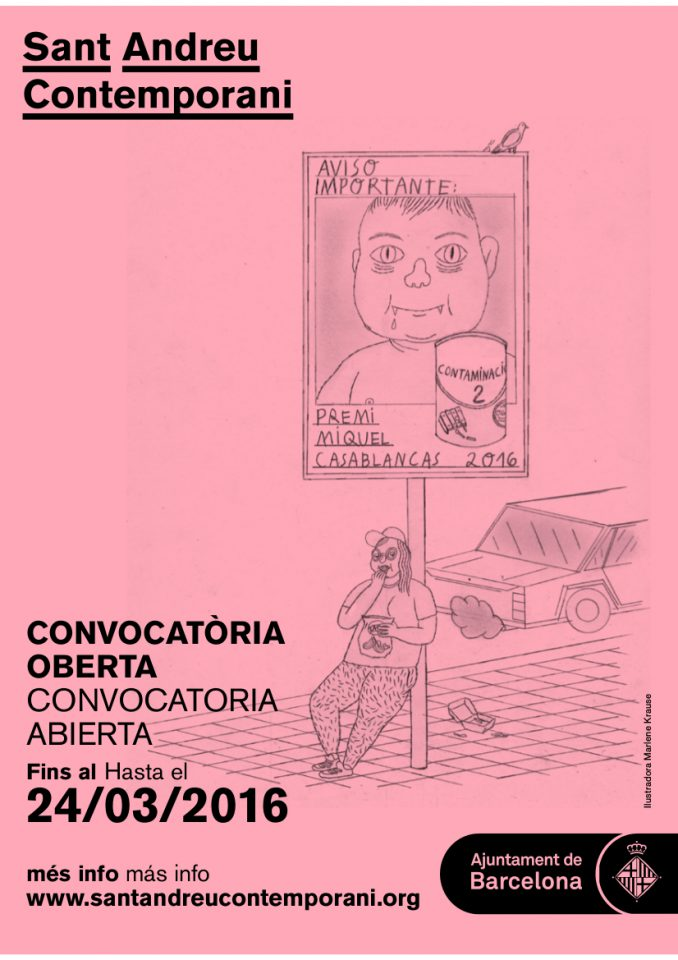 Sant Andreu Contemporani obre la convocatòria del Concurs d'Arts Visuals Premi Miquel Casablancas 2016