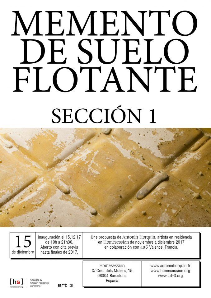 Antonin Horquin: Memento de suelo flotante