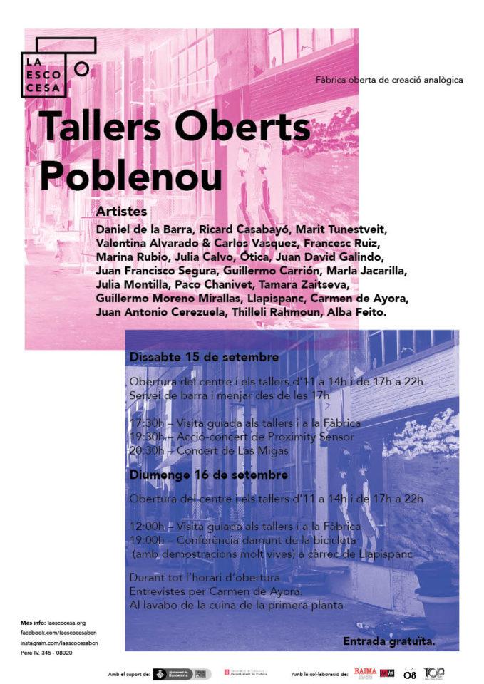 La Escocesa a Tallers Oberts del Poblenou 2018
