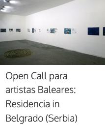 Beca per a artistes visuals Balears/ reidència en Belgrado