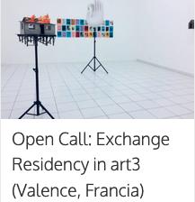 Beca artistes visuals / Residència a art3, França