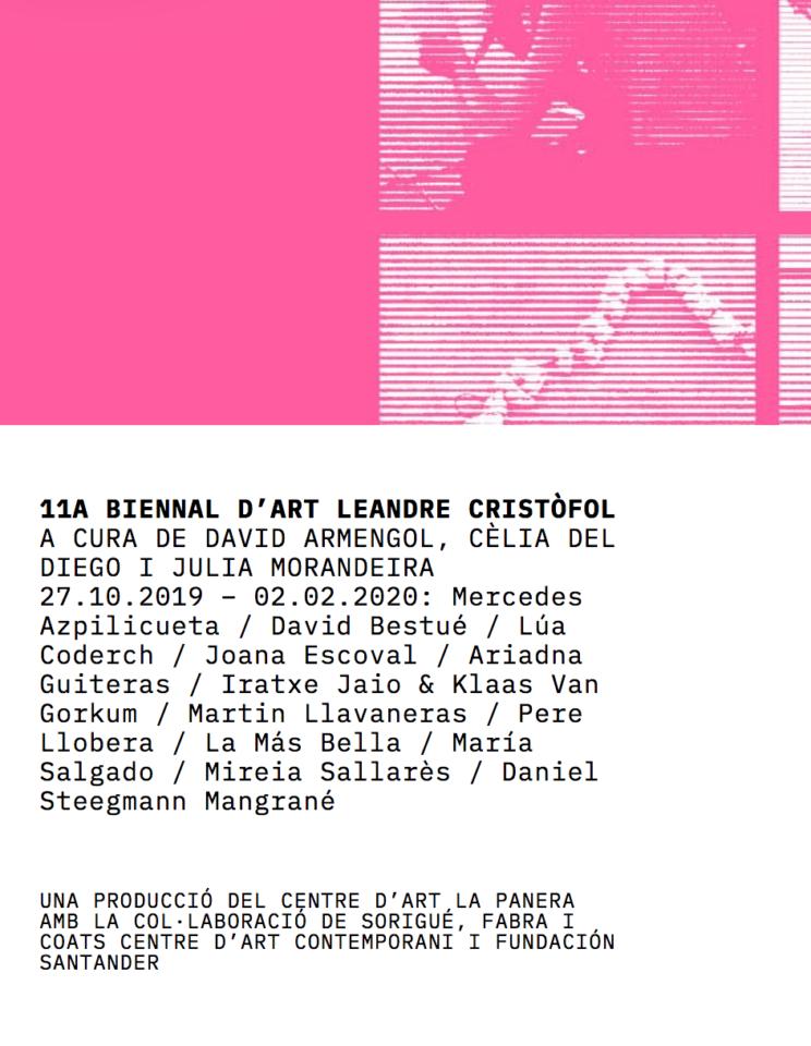 Visita a la 11a Biennal d'Art Leandre Cristòfol amb David Armengol i Cèlia de Diego