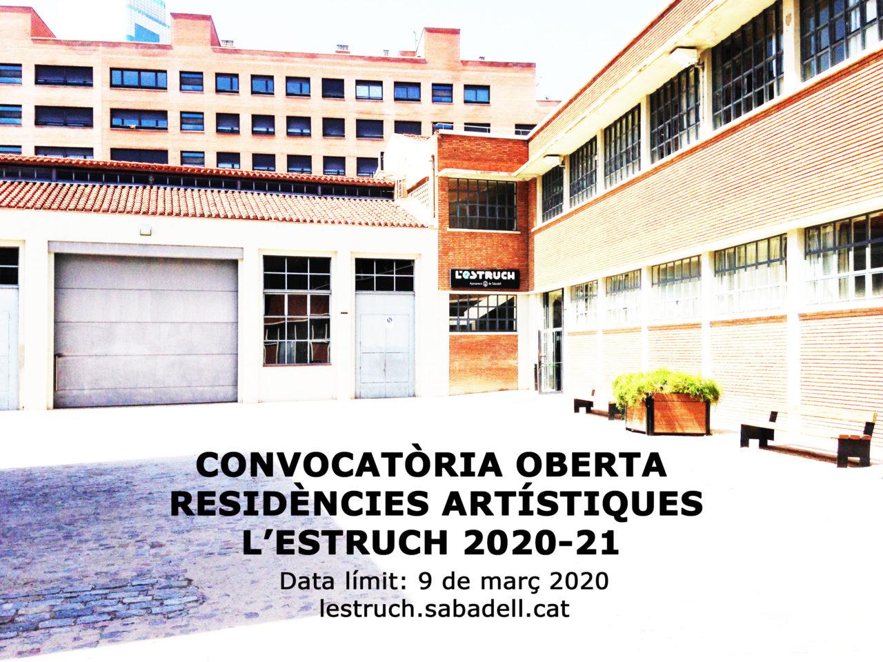 Convocatòria residències l'Estruch 2020-21