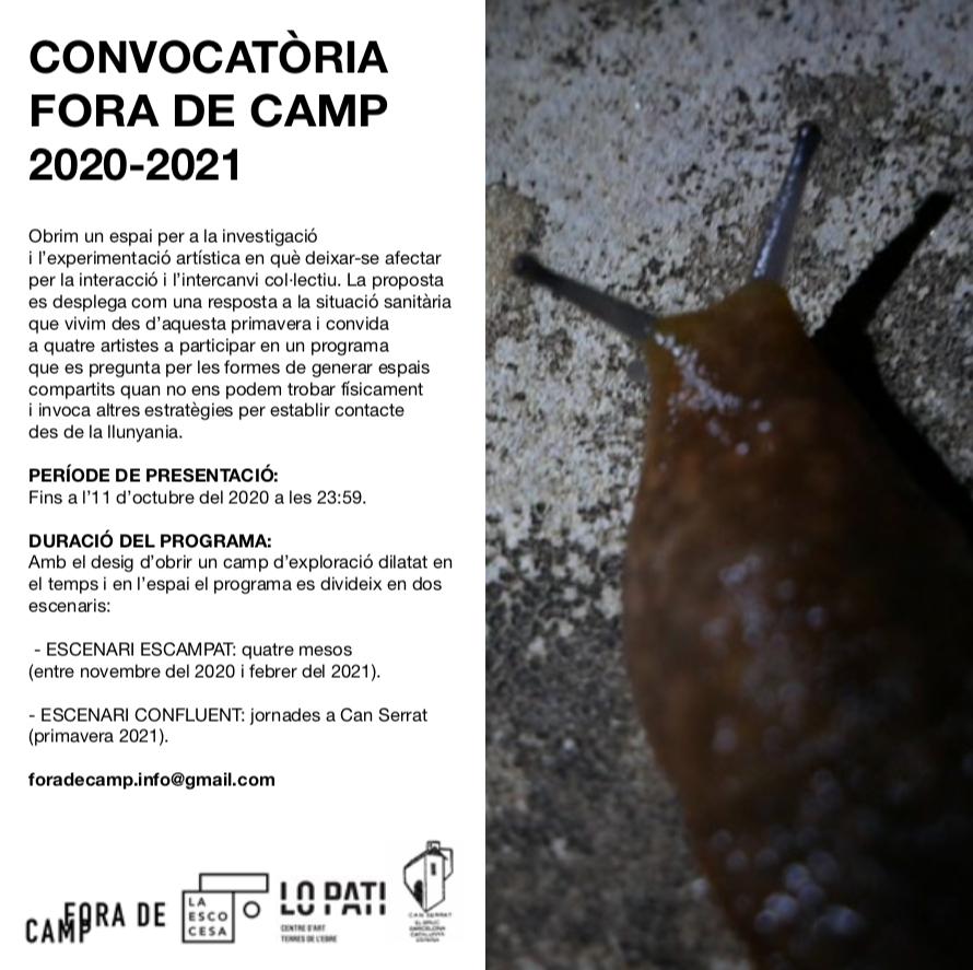 Convocatòria Fora de Camp 2020-2021