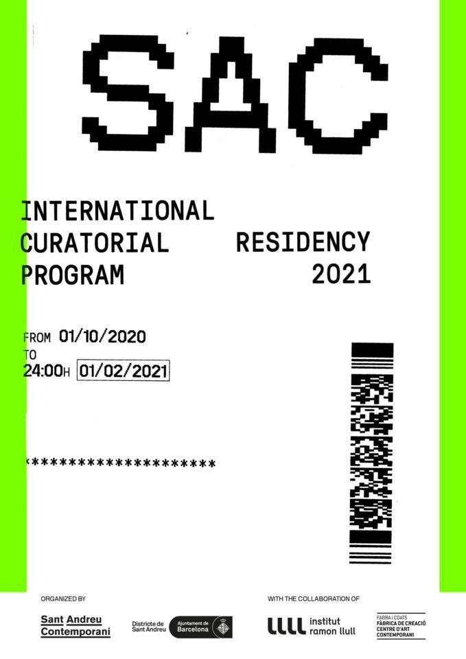 SAC Programa de Residència Curatorial Internacional 2021
