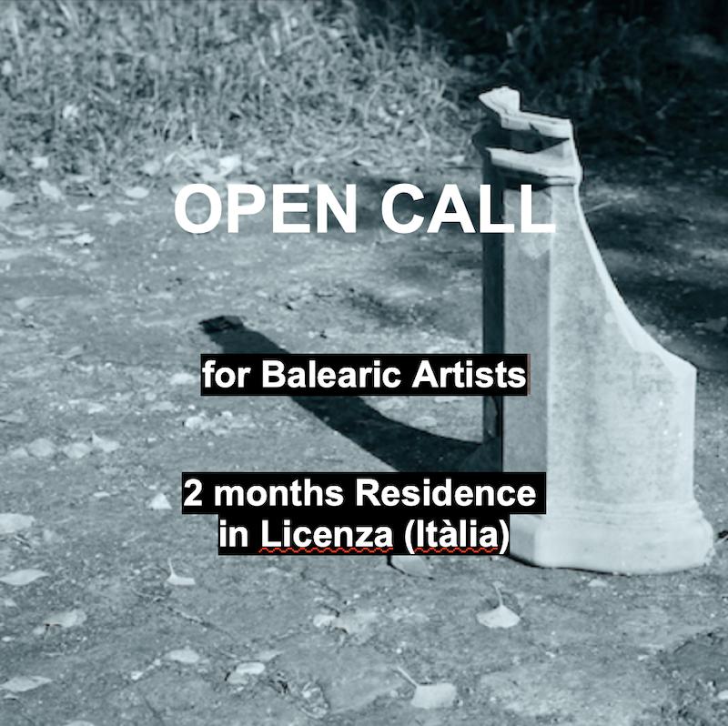 Convocatòria de Residéncia artística a Licenza (Itàlia)/ artistes balears