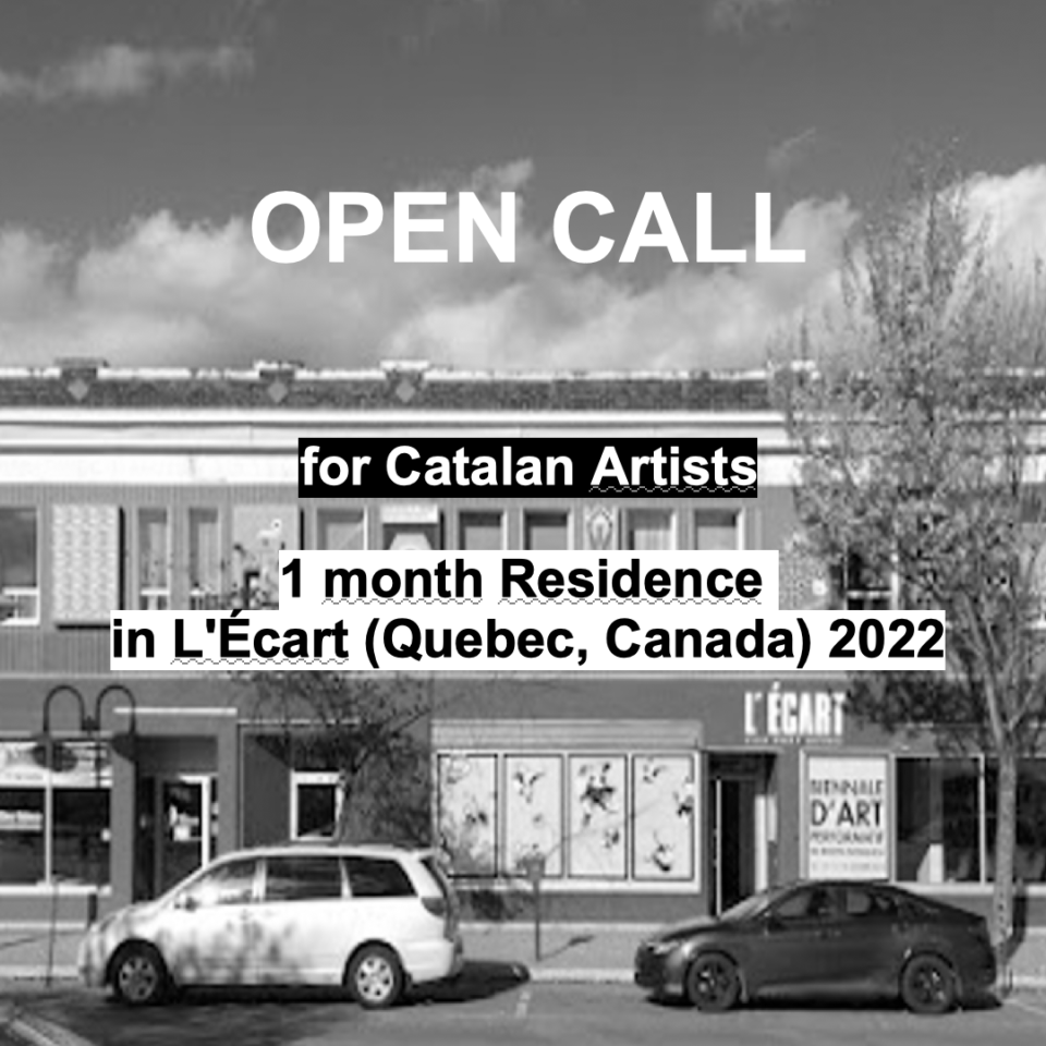 OPEN CALL RESIDÈNCIA EN L'ÉCART / QUEBEC